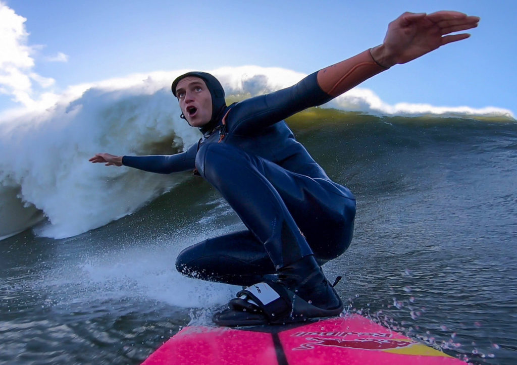 justine dupont big wave surfing nazare